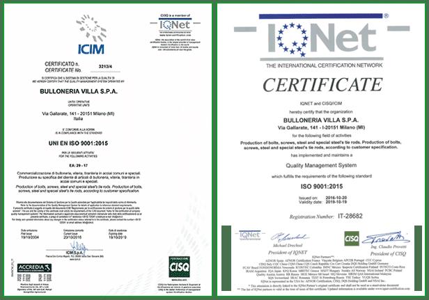 i_net icim 2017 - Certifications
