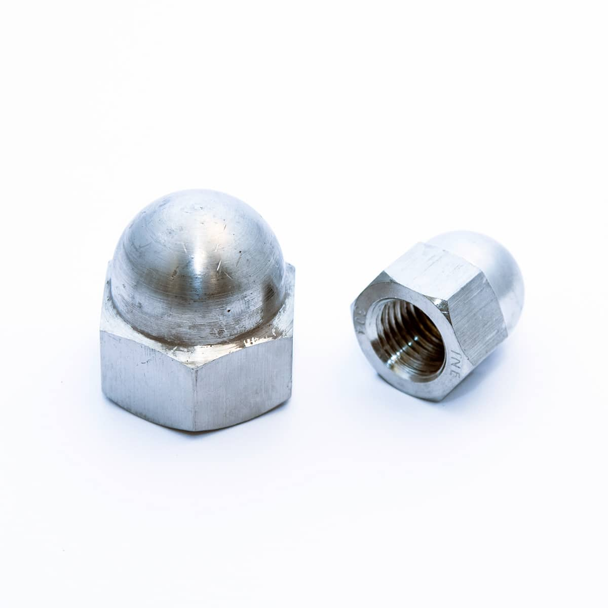 Hexagonal domed cap nuts, high type