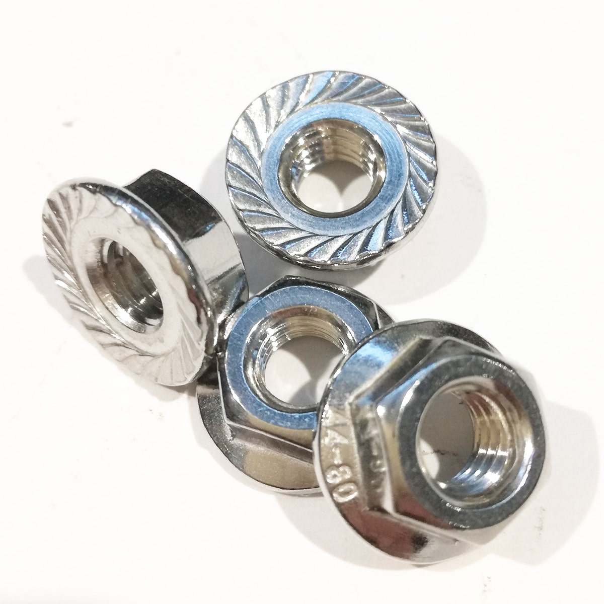 Flanged hex nuts