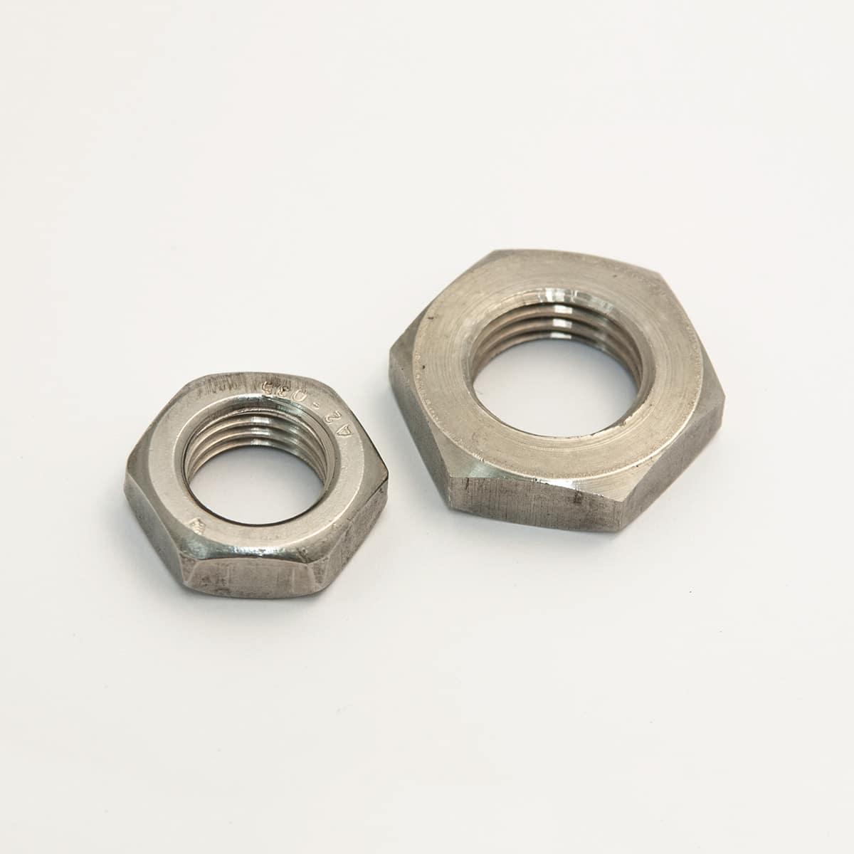 Short hexagonal nuts