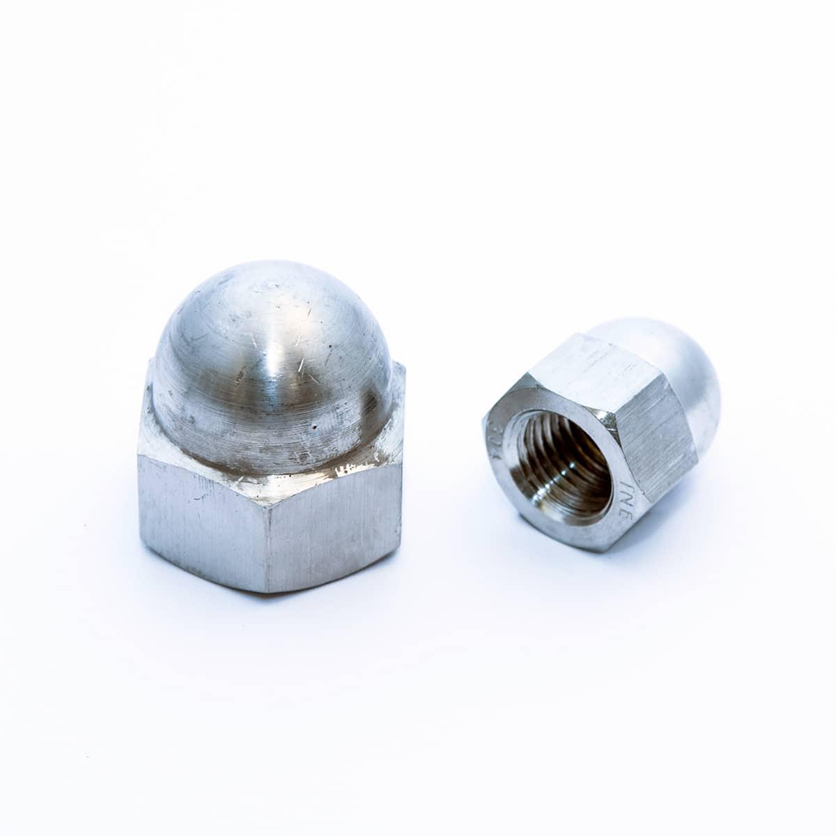 Hexagonal domed cap nuts, high type